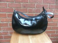 Osprey Black Leather Tote Shoulder Handbag