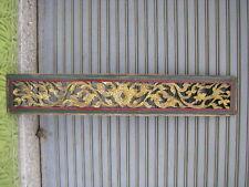 +60 years old Thai  Buddha Temple Teak Carved Fretwork BREEZEWAY Ornate Goldgild