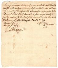 Henry Laurens - Manuscript Document Signed Shortly After Signing Treaty of Paris