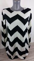 Allegra K Ladies Crew Neck Long Sleeve Stripe Blouse Oversize Top Medium A323-12