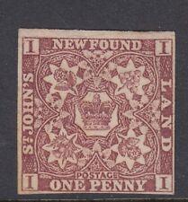 Newfoundland 1857 One Penny Imperf SG1 .4 margins Cat £160 original gum traces