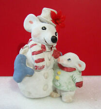 Dreamsicles Snowman Mouse Rat Christmas Winter Cast Art Figurine