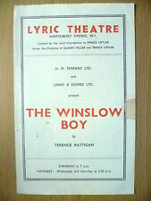 Lyric Theatre Programme- THE WINSLOW BOY by Terence Rattigan