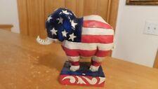 Jim Shore Heart Wood Creek Pint Size Patriotic Republican Elephant New