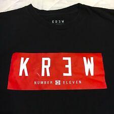 KR3W ORIGINAL CLOTHING SHIRT BLACK RED KREW DIAMOND SUPREME 10 DEEP 72-10 XI 11