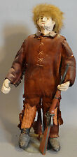 Antique DANIEL BOONE Folk Art MUSEUM Model STATUE Old COMPOSITION Toy DOLL