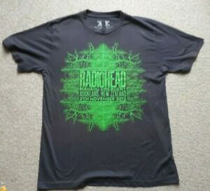 Radiohead 2012 Tour T shirt New Zealand Yorke