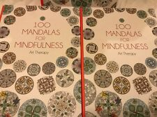 Colouring Book 100 Mandalas Calm Gift Anxiety Stress Symptom Relief Reliever