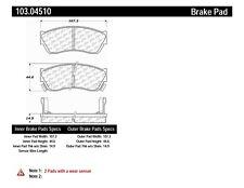 Disc Brake Pad Set-4 Door Front Centric 103.04510