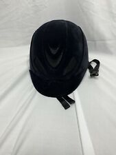 Flipflop Velveteen Horse Riding Helmet Black Size medium adjustable vented