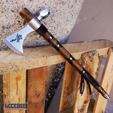 "19"" NATIVE AMERICAN TOMAHAWK Replica Axe Metal Blade w/ Wood Handle Model 7"