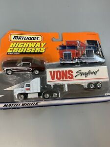 Matchbox Highway Cruisers Twin Pack Vons Seafood Ford Aeromax Truck Dodge Car