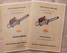Stihl 070 Contra Prospekt Bedienungs Anleitung Ersatzteilliste Manual Preisliste