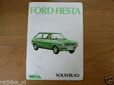 FORD FIESTA VOUWBLAD   HANDLEIDING OWNERS MANUAL,INSTRUCTION BOOK