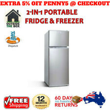 Fridge Freezer Camping Cooler 100L Refrigerator Caravan Boat & Home Bar Fridge