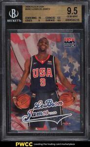 2004 Skybox USA Basketball LeBron James BGS 9.5 GEM MINT
