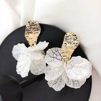 Fashion Women Shell Big Flower Drop Dangle Earrings Ear Stud Jewelry Gift New