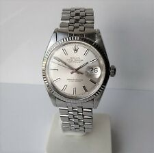 ♛ Rolex 1601 Oyster Perpetual Datejust, White gold & stainless steel BOX Papers