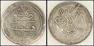 Ottoman Empire, Turkey silver 80 Para - Cifte Kurush AH 1223/14 R+