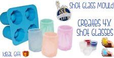 Molde De Hielo disparos Vaso crea 4 vasos de hielo nuevo y en Caja Regalo Ideal