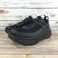 Hoka One One Bondi 6 Mens Shoes Size 10 Athletic Running Jogging Gym Black EUC