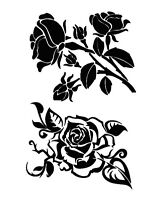 STENCILS CRAFTS TEMPLATES SCRAPBOOKING ROSES  COLLECTION 7 STENCIL - 1 A4 MYLAR