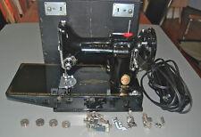 VINTAGE SINGER FEATHERWEIGHT 221 SEWING MACHINE + CASE + ACCESSORIES Portable