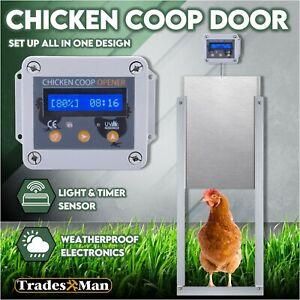 Automatic Chicken Coop Door Opener Cage Closer Timer and Light Sensor