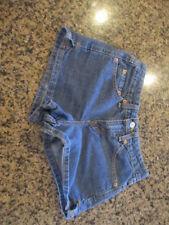 "Levis Blue denim Jean Shorts 0 JR Cotton Medium Wash women's W 28 X L 3 """