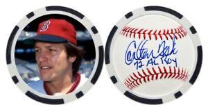 CARLTON FISK / BOSTON RED SOX - POKER CHIP - GOLF BALL MARKER ***SIGNED***