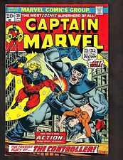 """Captain Marvel #30 ~ """"...To Be Free from Control"""" / Thanos! ~ 1974 (7.5) WH"""