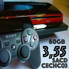 PS3 60GB 3.55 ✰JB✰ Sony PlayStation 3 Original Model CECH-C03 Launch Console 🕹