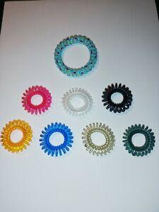 Haargummi Spirale - 8 Stück ~ bunt ~ 2 versch. Größen ~