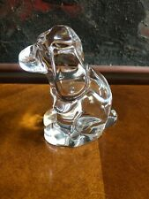 Vintage Signed Orrefors Crystal Dog Puppy Figurine Paperweight