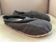 OTZ BROWN LINEN CASUAL SLIP ON LOAFERS EU SIZE 44 (US MENS SIZE 10.5)