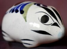 Mouse Hedgehog ceramic hand painted Figurine Mexico pottery folk art look