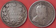 Very Good 1902H Canada Silver 25 Cents