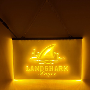 Land Shark LED Sign Man Cave Garage Bar