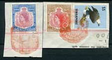 More details for singapore revenues 1964 $25 & $100 bft 7/8 used on pieces