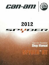 2012 Can-Am Spyder RT RTS RT Limited series service manual on CD CanAm Can Am