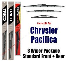 3 Wiper Package Front & Rear - fits 2017+ Chrysler Pacifica - 30260/200/14A