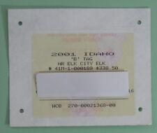 2001 Idaho Fish & Game Non Resident Elk Hunting License Tag...Free Ship!