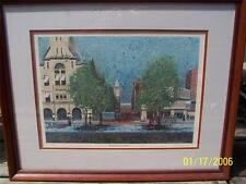 Thomas Harwood signed / numbered Lithograph Springfield OH City Market 101/250