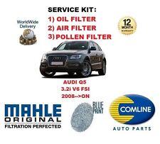 para Audi Q5 3.2 V6 24v 4x4 FSi 2008> DE ACEITE FILTRO DE AIRE POLEN