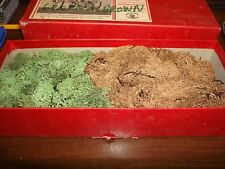 Box Of Green And Brown Lichen For Train Layout Or Landscaper Decor
