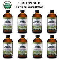 Black Seed Oil Gallon - USDA ORGANIC Premium 100% Pure Cold Pressed Cumin Seed