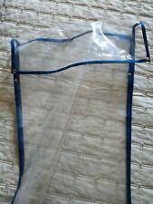 Buste trasparenti cucite per biancheria x la casa cm 37x 48 + 6 cm + ciappe