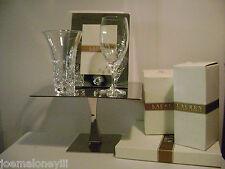 Ralph Lauren Hollywood Hills Crystal Vase & Glass W/ Vows Frame Wedding Set