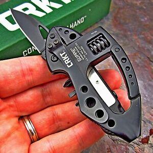 CRKT Guppie Carabiner Multi-Tool Folding Pocket Knife Bottle Opener Light Wrench