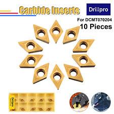 Drillpro 10pcs Carbide Insert Cutter YBC251 Lathe Boring Bar Turning Tool Holder
